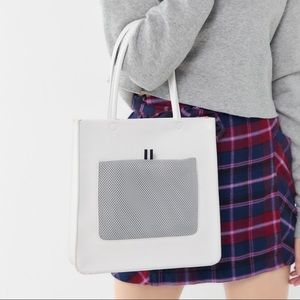 NWT Urban Outfitters Faux Leather Naomi Tote Bag.
